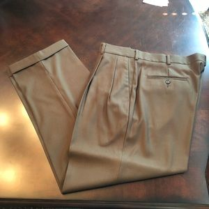 Brown pleated slacks Perry Ellis 36x30